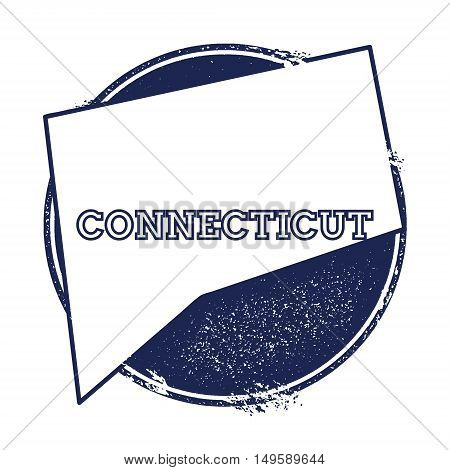 Connecticut Vector Map. Grunge Rubber Stamp With The Name And Map Of Connecticut, Vector Illustratio