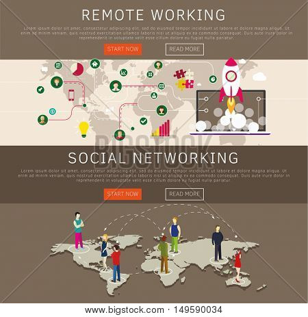 Freelance on-line work, remote jobs social networking web page templates.
