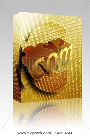Software package box dotCom background, with European Euro currency illustration