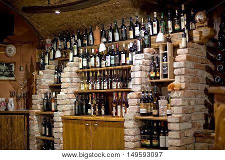 Bratislava, Slovakia - May 29: Wine in vineyard in Bratislava  on  May 29, 2015 in Bratislava, in Slovakia