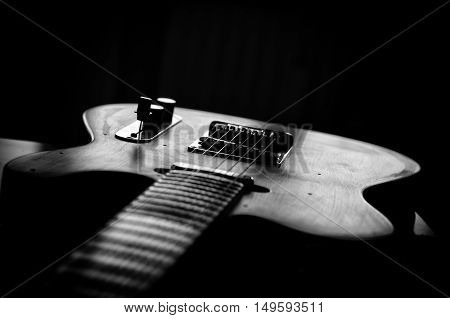 Electric Guitar  in black and white style
