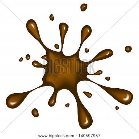 Choco Ink Blob, Blot, Splash  Vector Symbol Icon Design.