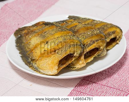 Dried Fried Snake Skin Gourami Fish, Thailand Call