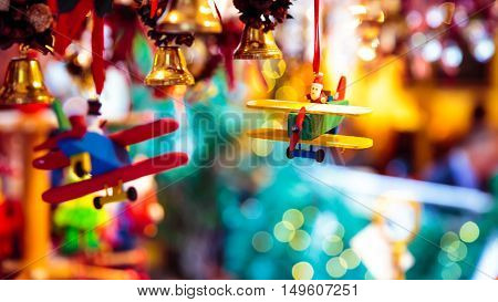 gift and decoration for christmas in a market of Austria