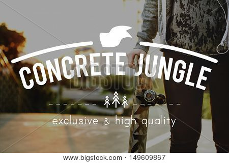 Concrete Jungle City Metropolis Town Population Concept