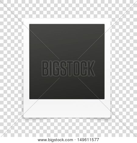 Vector frame isolated on transparent background. Vector illustration