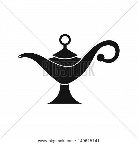 Middle east oil lamp icon in simple style on a white background vector illustration