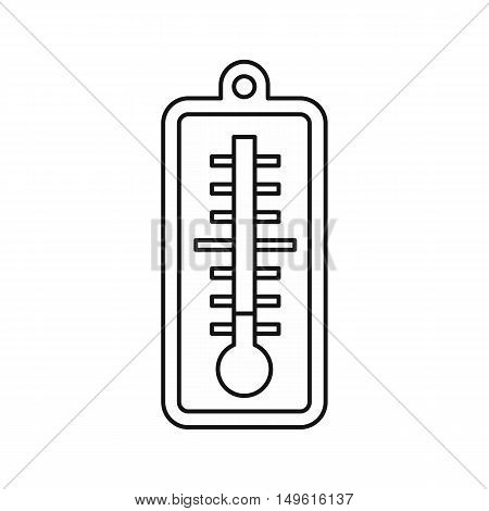 Thermometer indicates low temperature icon in outline style on a white background vector illustration