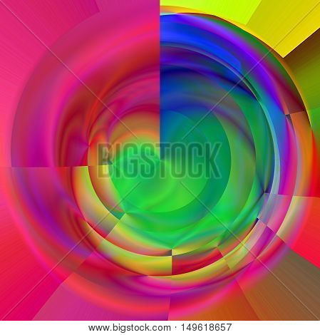 Abstract coloring background of the pastels gradient with visual lighting and polar coordinates effects.