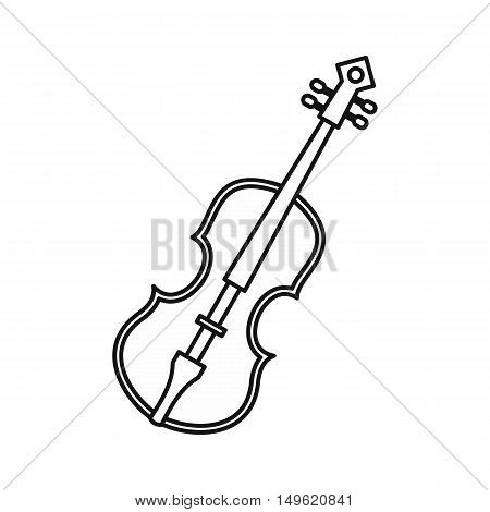 Cello icon in outline style on a white background vector illustration