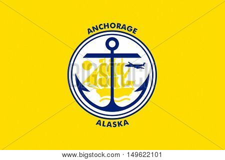 Flag of Anchorage is a unified home rule municipality in Alaska state United States