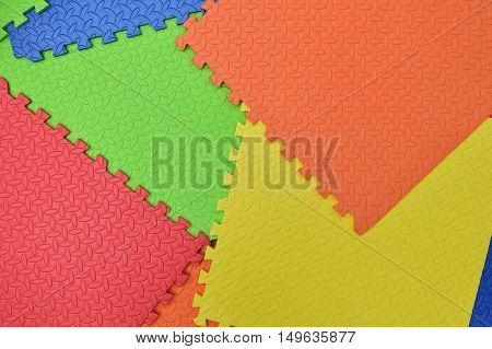 Colorful Baby Mat , rubber foam for childhood play background