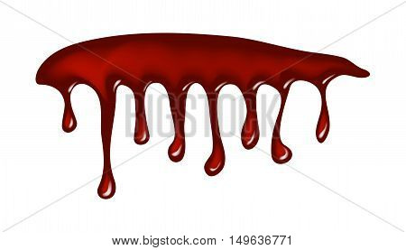 Blood, Ink Drip, Dripping Paint Vector Symbol Icon Design.