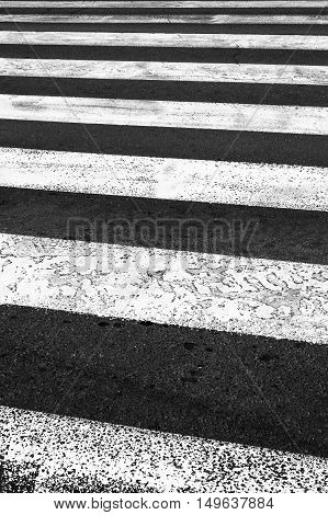 Pedestrian crossing on the road zebra traffic walk way.