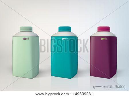 vector set of packaging bottles for new design. 500 ml