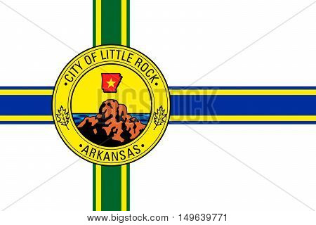 Flag of Little Rock in Arkansas state of United States