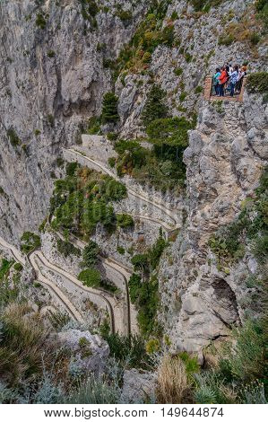 Capri, Italy - June 10: Capri Island On June 10, 2016 In Capri, Italy. The Beautiful Capri Island, V