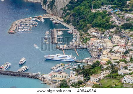 Capri, Italy - June 10: Capri Island On June 10, 2016 In Capri, Italy. Typical Summer Day On Capri I