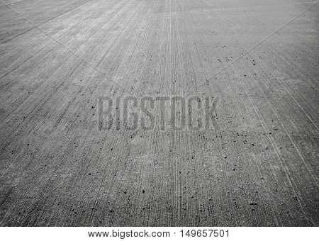 the Concrete floor aircraft runaway background texture