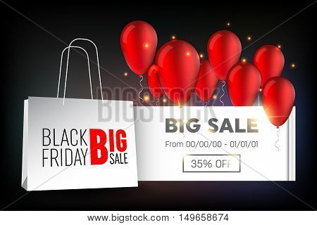 Abstract vector 2016 Black Friday layout background. For creative art design, list, page, mockup theme style, banner, concept idea, cover, sale booklet, print, deal flyer, blank, card, ad, sign, sheet