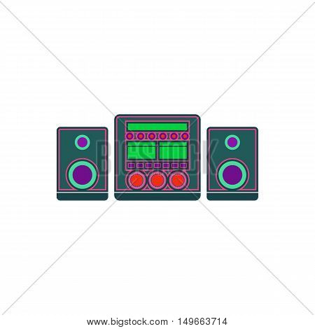 Music center Icon Vector. Flat simple color pictogram