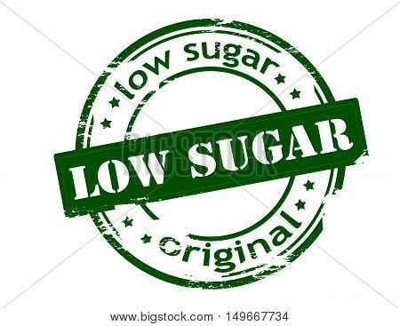 Rubber stamp with text low sugar inside vector illustration