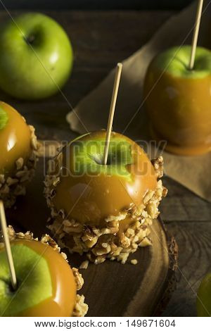Homemade Organic Candy Taffy Apples