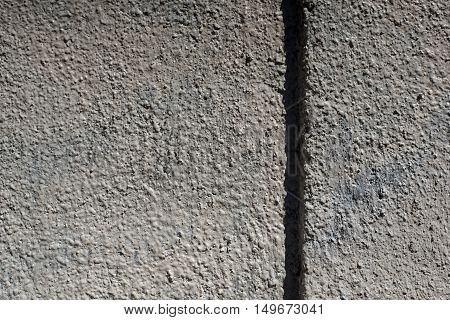 Grey Plaster, Grunge, Rough, Hoarse Old Wall