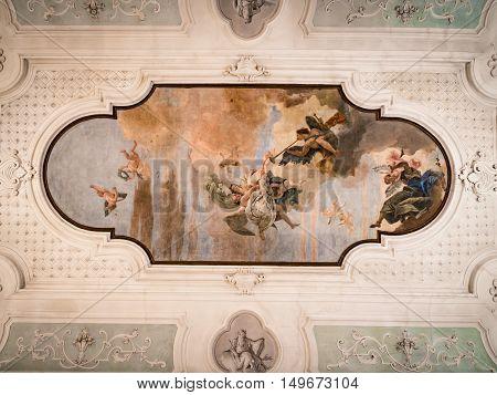 Vicenza Italy - May 13 2015: The fresco