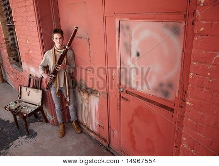Handsome Young Bassoon Musician