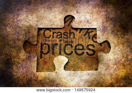 Crash Prices Puzzle Grunge Concept