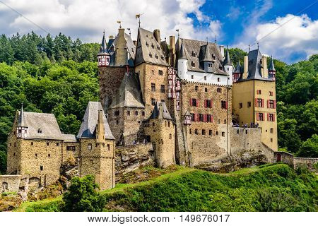 Ancient castle Eltz near Cochem in Germany