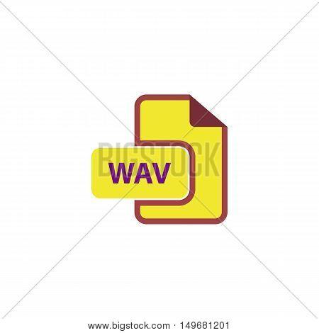 WAV Icon Vector. Flat simple color pictogram