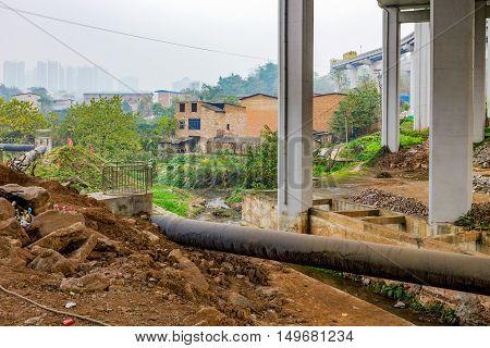 Developing countyside area of Chongqing municipality China