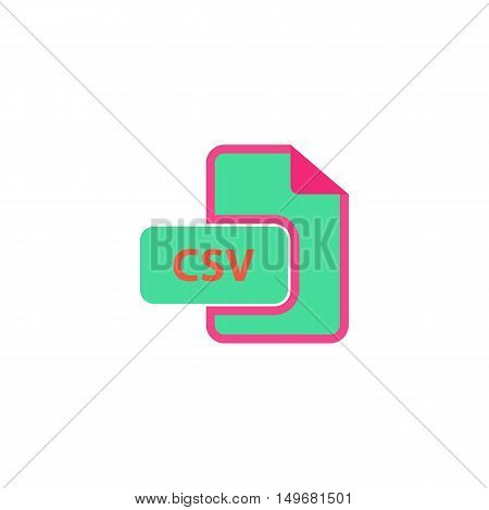 CSV Icon Vector. Flat simple color pictogram