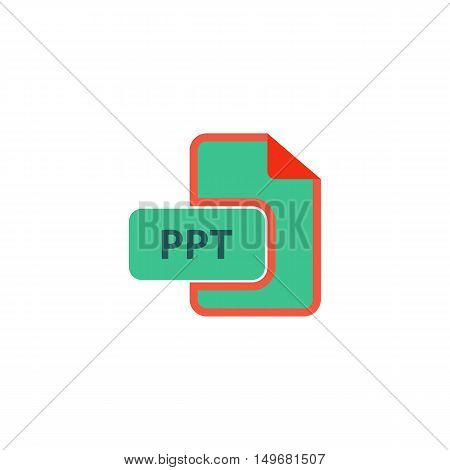 PPT Icon Vector. Flat simple color pictogram