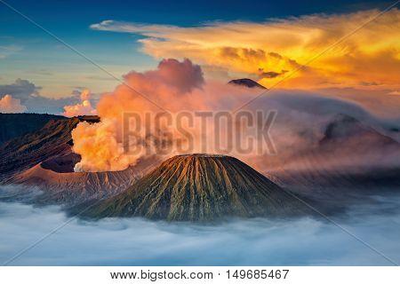 Mt.Bromo in Tengger Semeru National Park East Java Indonesia