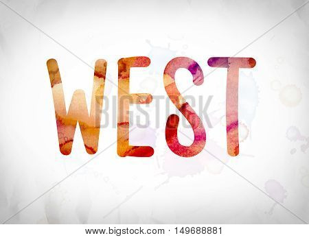 West Concept Watercolor Word Art