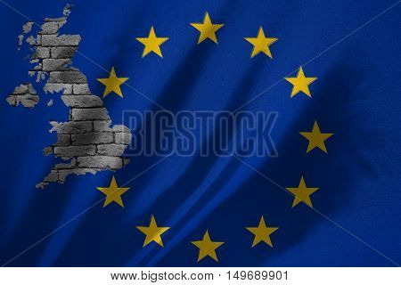 UK flag map with out member of EU flag anymore - can use to display or montage on products