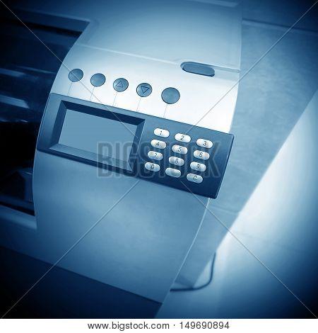 Use of cash registers cash register close-up