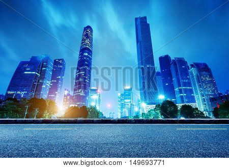 China's Financial District Guangzhou Pearl River Night