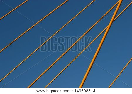 part of a bridge strong metal cable