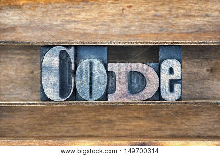 Code Wooden Word Tray