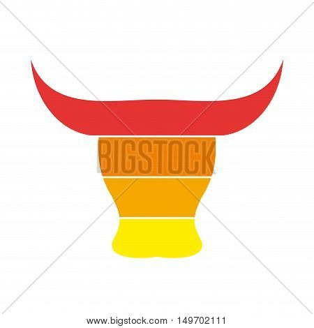 Vector sign Spanish bull, isolated on white