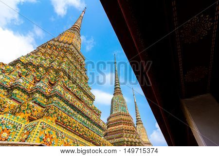 Art of Traditional Thai temple architecture Wat Poe