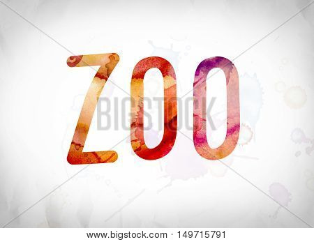 Zoo Concept Watercolor Word Art