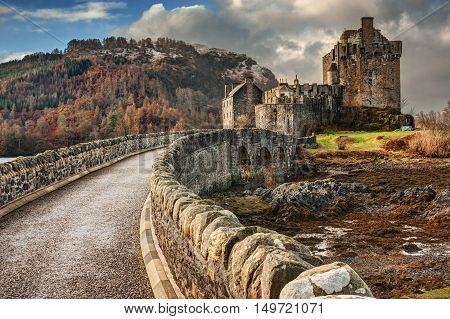 Famous Eilean Donan Castle in North Scotland