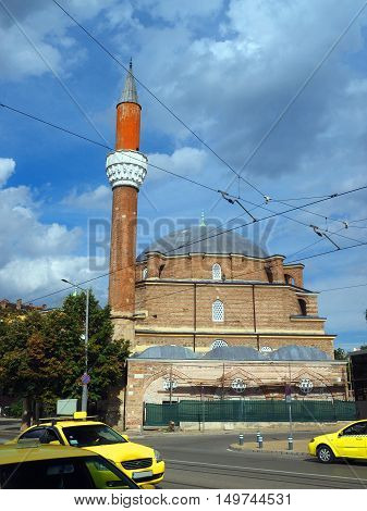 Banya Bashi historic ancient Mosque in middle of capital Sofia Bulgaria Europe