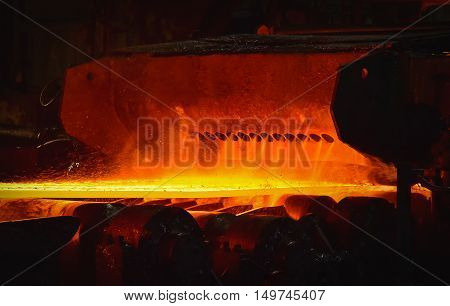Hot-rolled coil steel process in steel industry