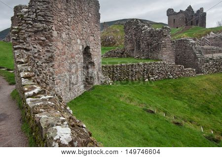 Old Urquhart Castle, Loch Ness, north Scotland
